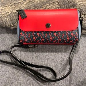 Coach Reversible Leather Cross Body Bag